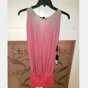 Women's Brand New Sloni Sweater Tank Pink/Gray Med